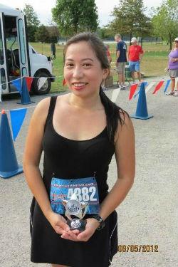 Adelaida Peterson at the FLEET FEET Runners Club Flat Five