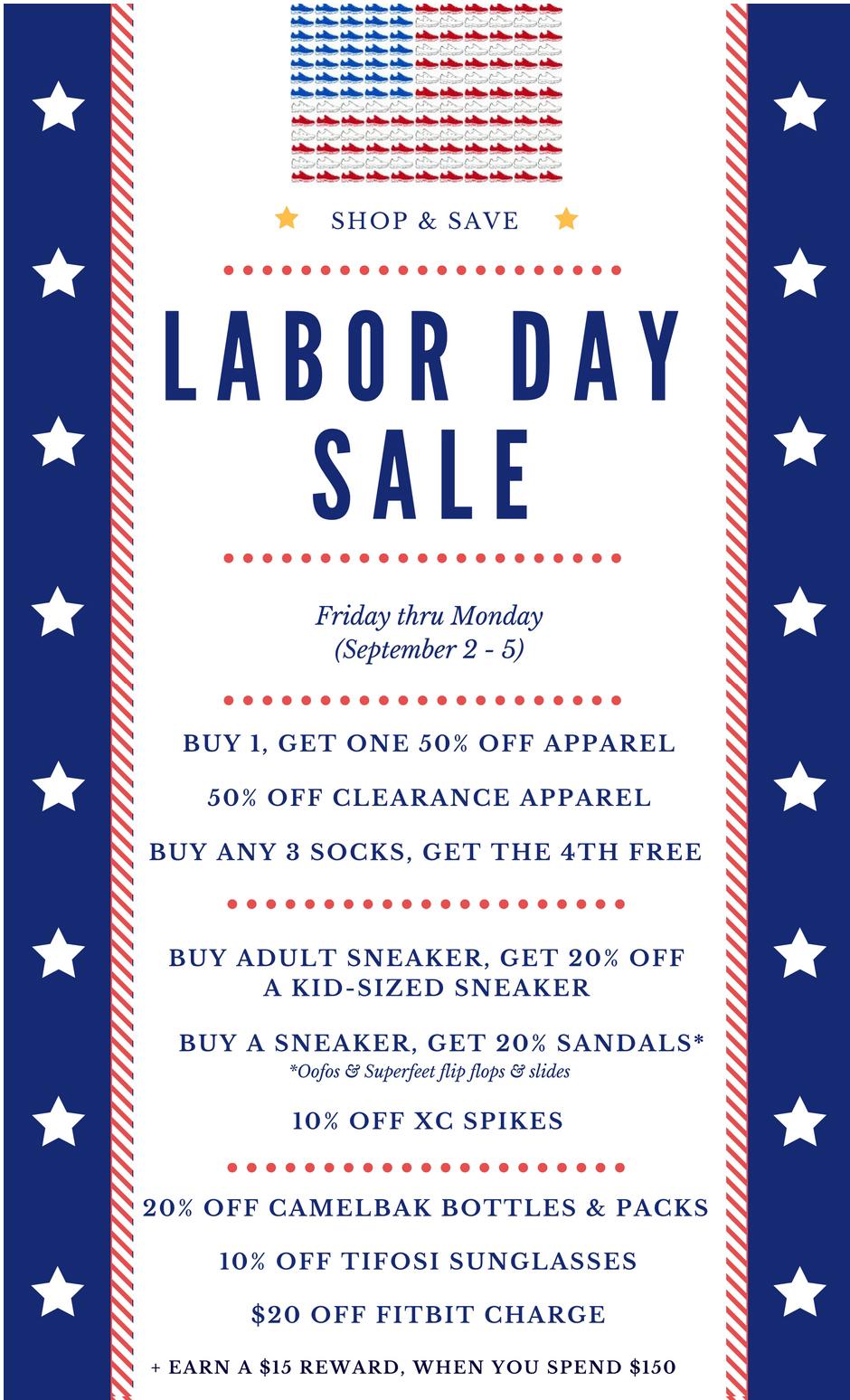 Labor Day Sale Details