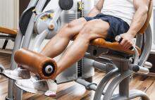 knee extension machine