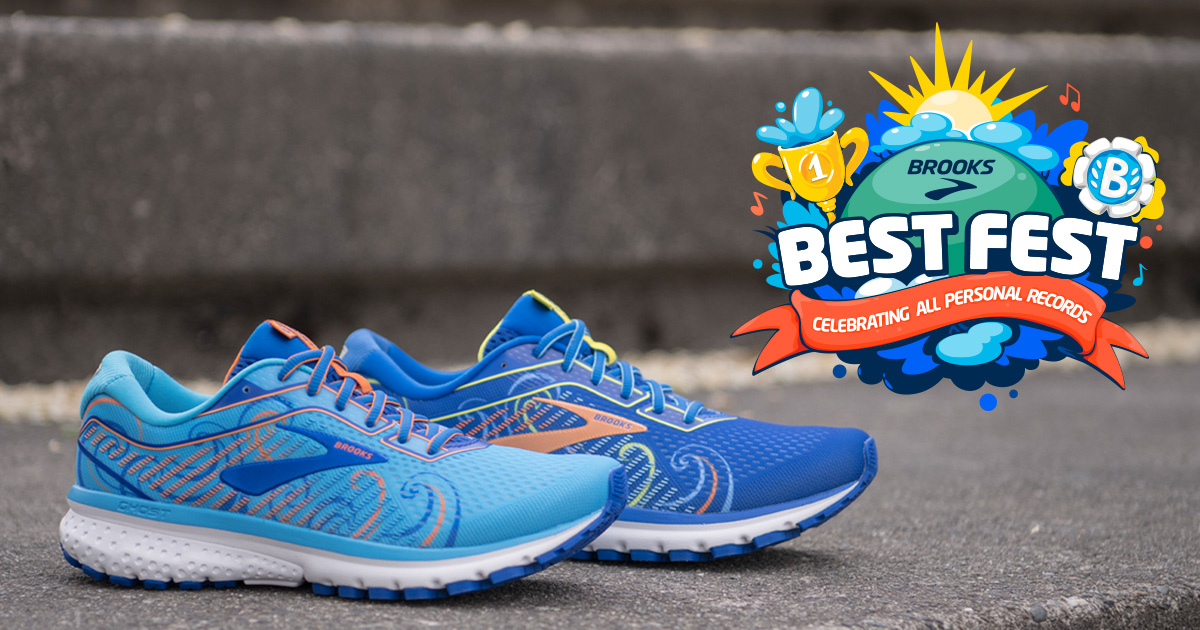 Brooks Best Fest limited edition Ghost 12 shoes