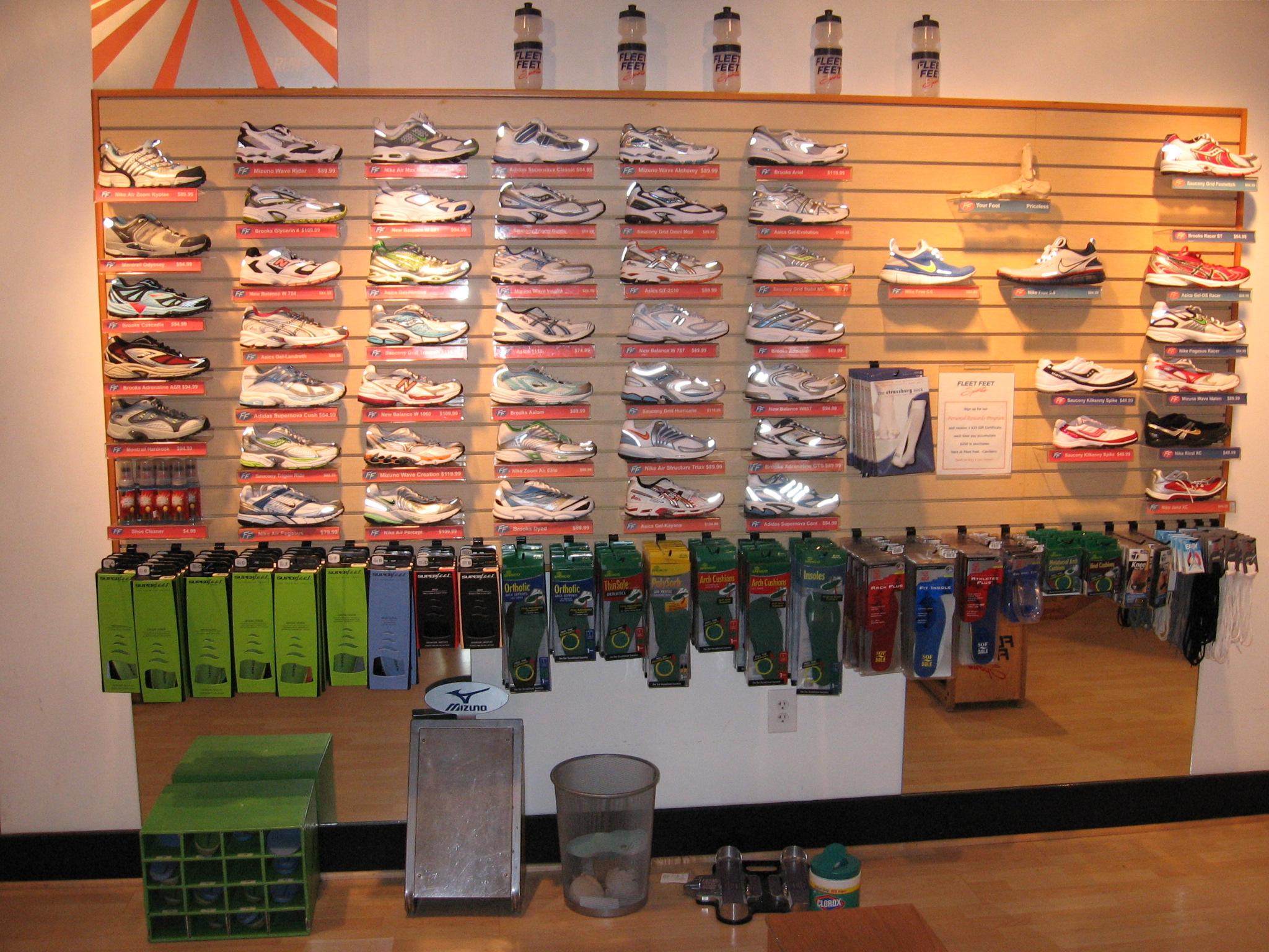 shoe wall in 2006