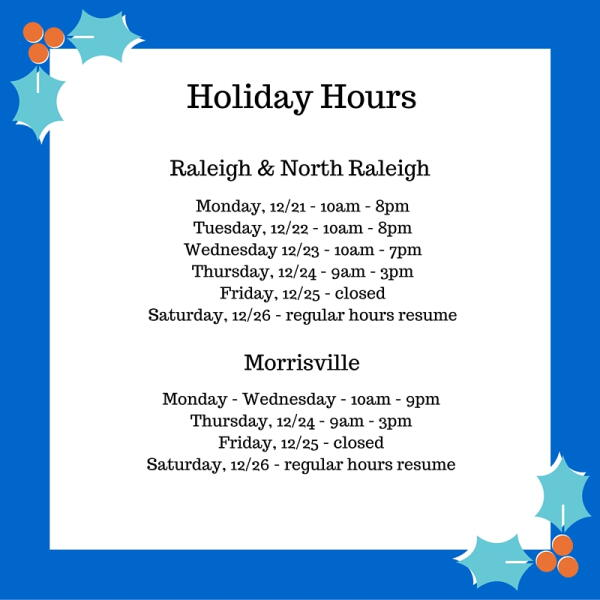 Holiday Hours 2