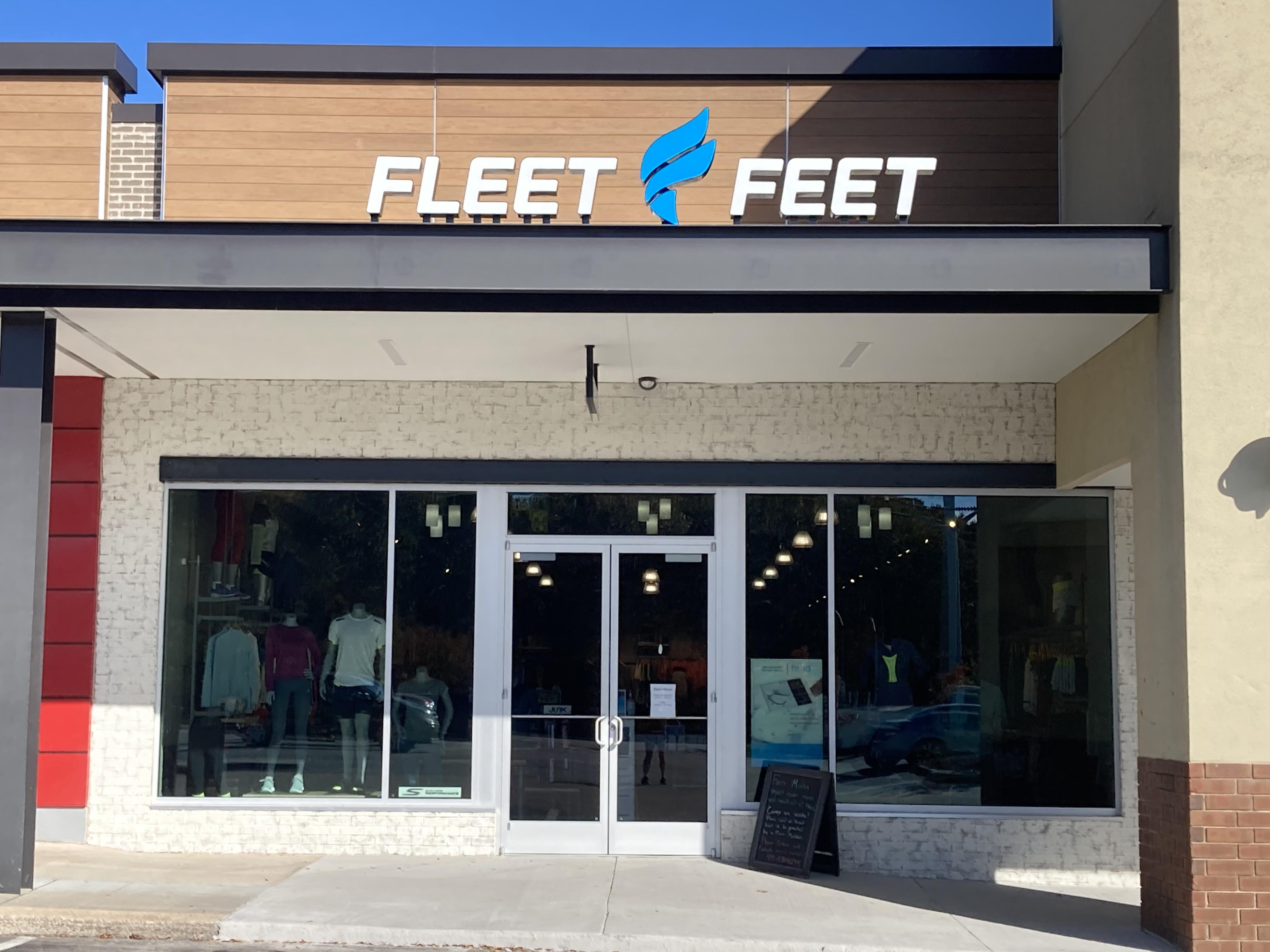The Fleet Feet Raleigh storefront