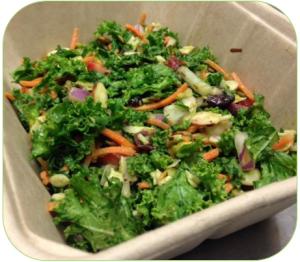 Kale carrot avocado salad