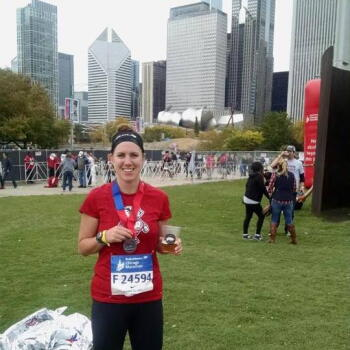 Chicago marathon finish