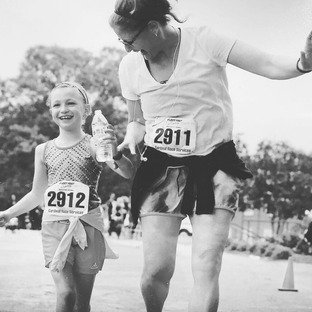 mother/daughter running