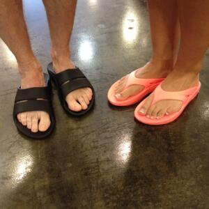 OOFOS recovery sandals
