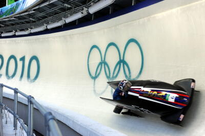 bobsled on a slope