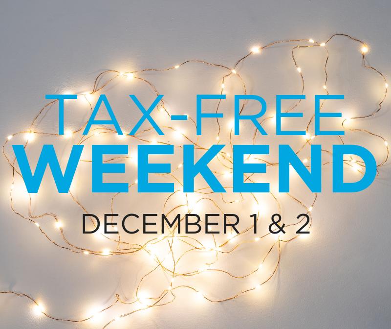 tax-free weekend dec. 1 & 2