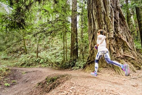 uphill trail solo run