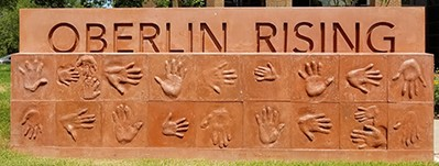 monument with words OBERLIN RISING