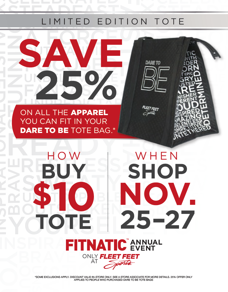 Dare To Be tote bags now available! - Fleet Feet Sports Athens