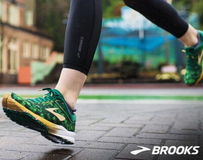 """bb3954c94 Get ready to """"run lucky"""" with the brand new Brooks Launch 5. This limited  edition shamrock print is an absolute must have for all of your St.  Patrick's Day ..."""