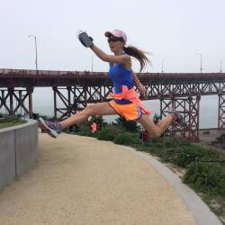 Neve Lee jumping
