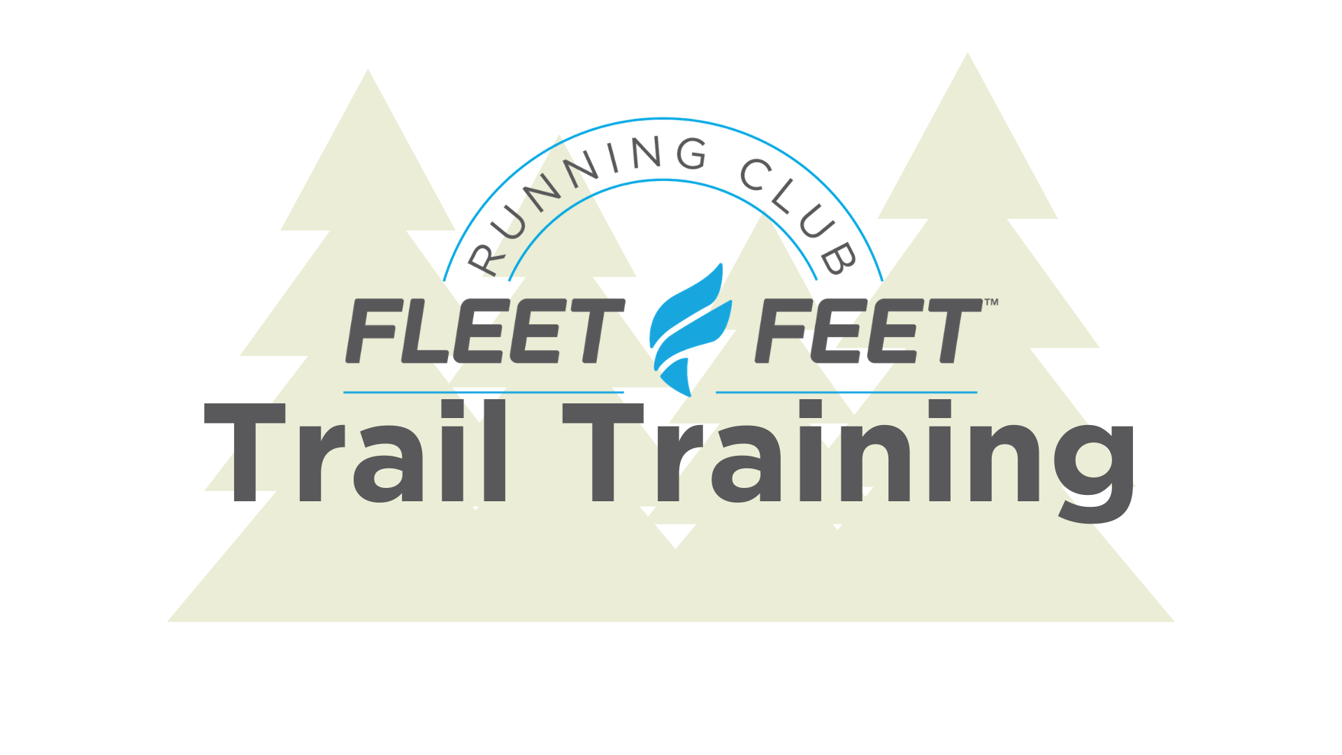 Fleet Feet Carrboro & Durham Trail Running Program Logo.