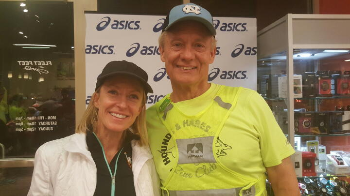 Deena Kastor at Fleet Feet Carrboro