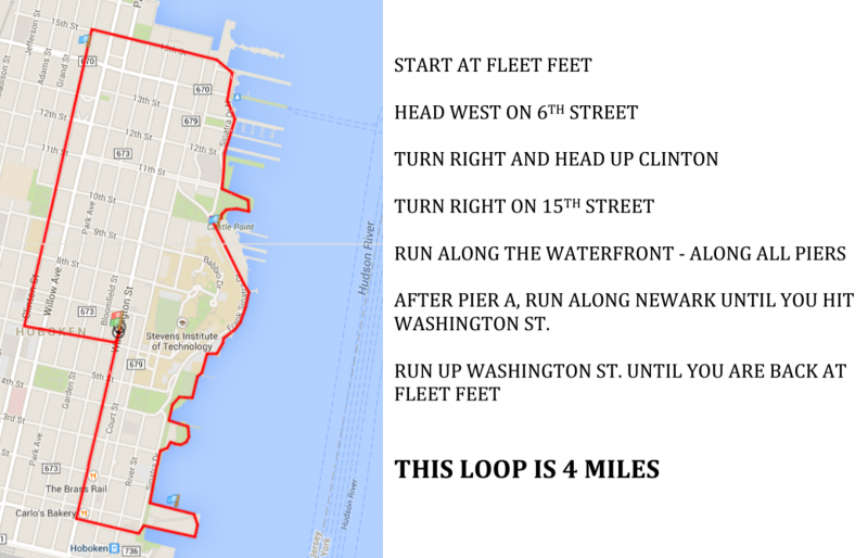 map for 4 mile loop