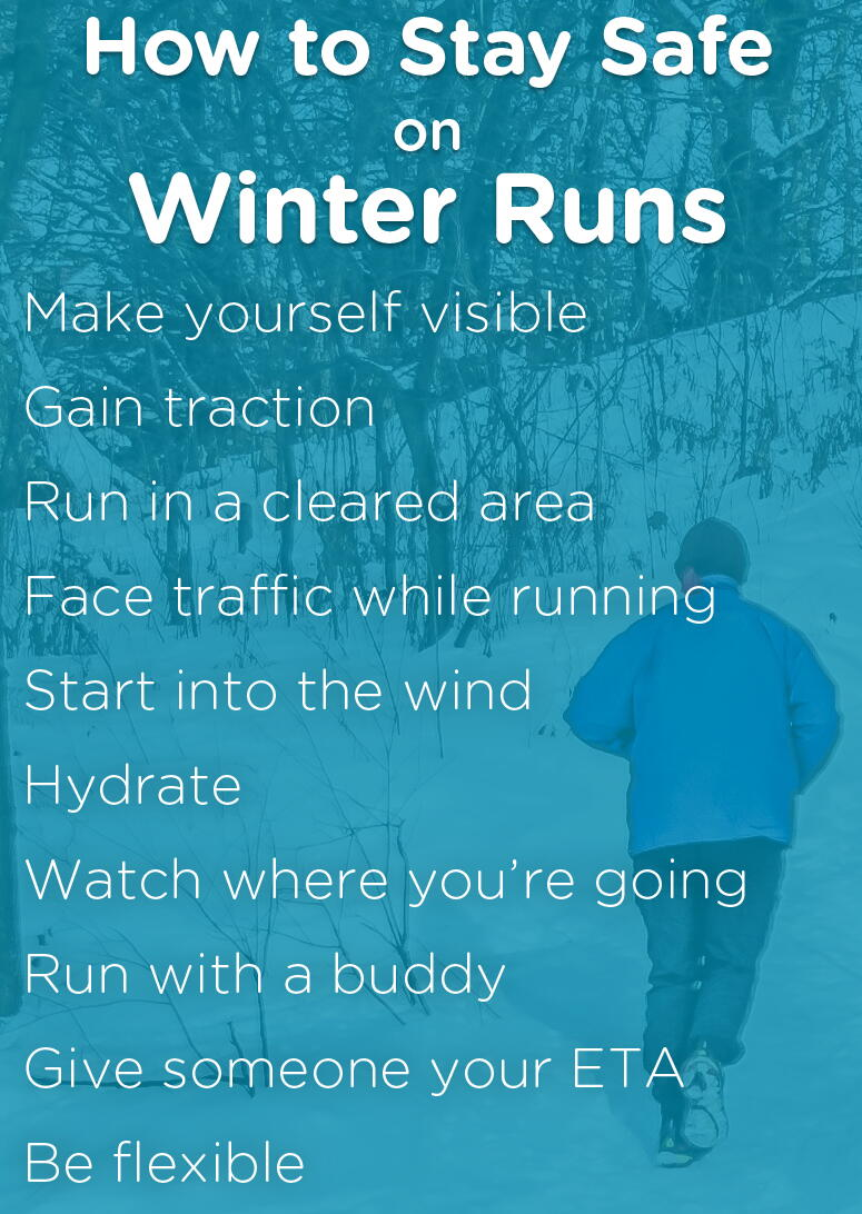 list of how to stay safe on winter runs