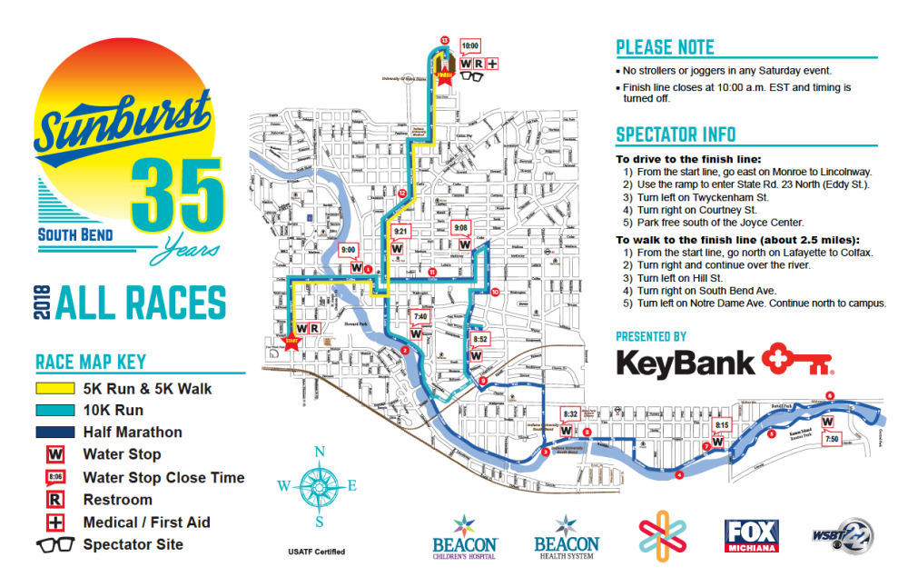 Mishawaka Zip Code Map.See Sunburst Route Maps Here Fleet Feet Sports Mishawaka