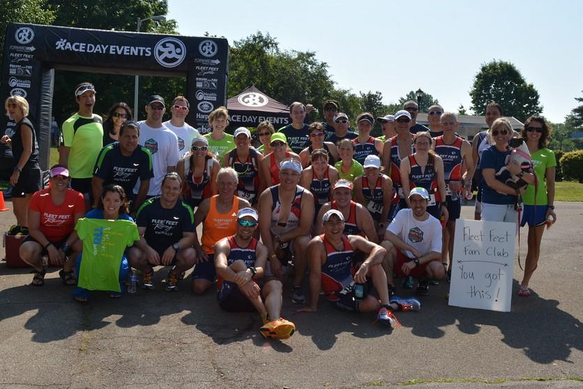 Fleet Feet Sports at the Foothills Sprint Triathlon