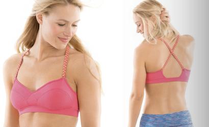 moving comfort sports bra running support bra fit cross over zumba