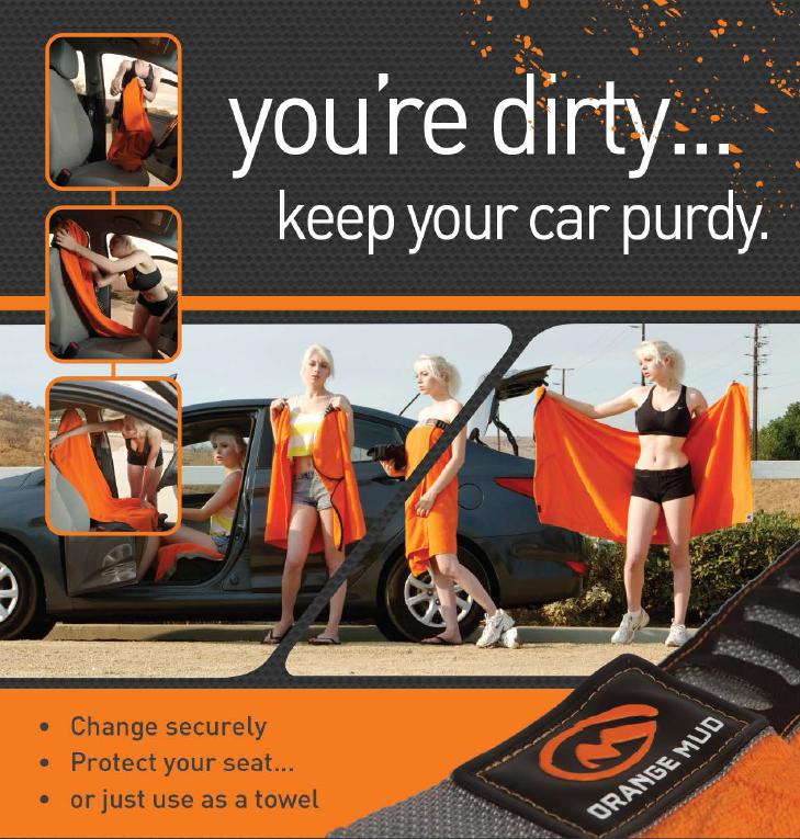orange mud seat cover
