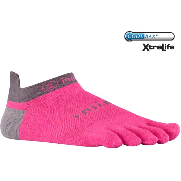injinji toe socks no show lightweight canyon pink running performance athletic