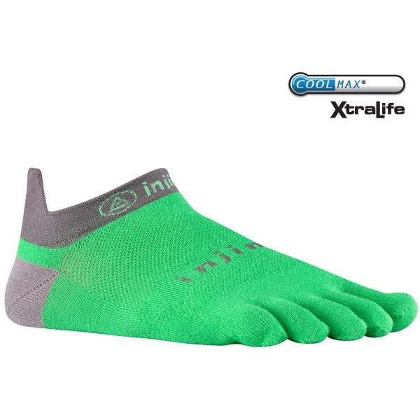 injinji run no show lightweight fresh green toe socks running athletic performance