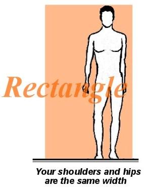 rectangle mens body type
