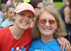 Coach Laura with Jeanne Butterfly Fund 5k