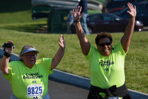 Gloria and Amparo at Run for the Deaf