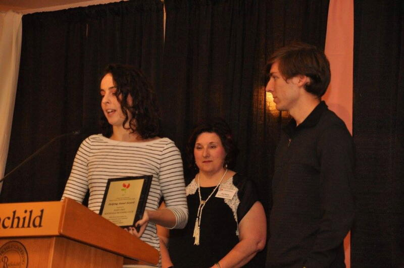 Accepting the Helping Hand Award