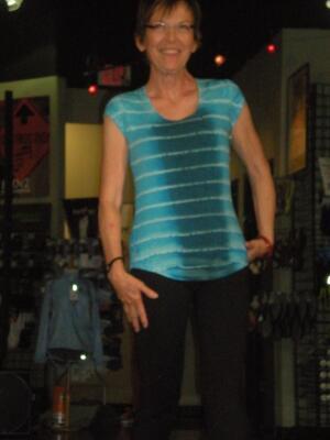 Dana at the Fashion Show