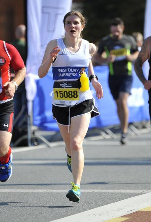 Victoria at the Bristol Half Marathon in 2014