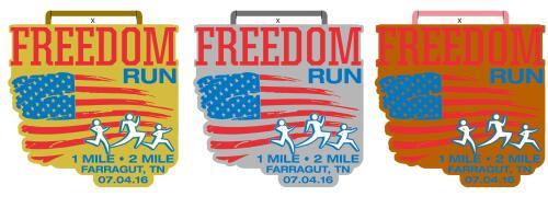 Freedom Run medals