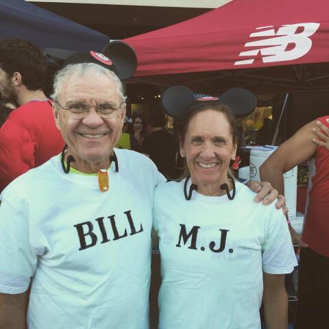Bill and MaryJane at Halloween Fun Run