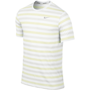 Nike Dri-FIT Touch Tailwind Short-Sleeve in White, Volt, and Silver Reflective
