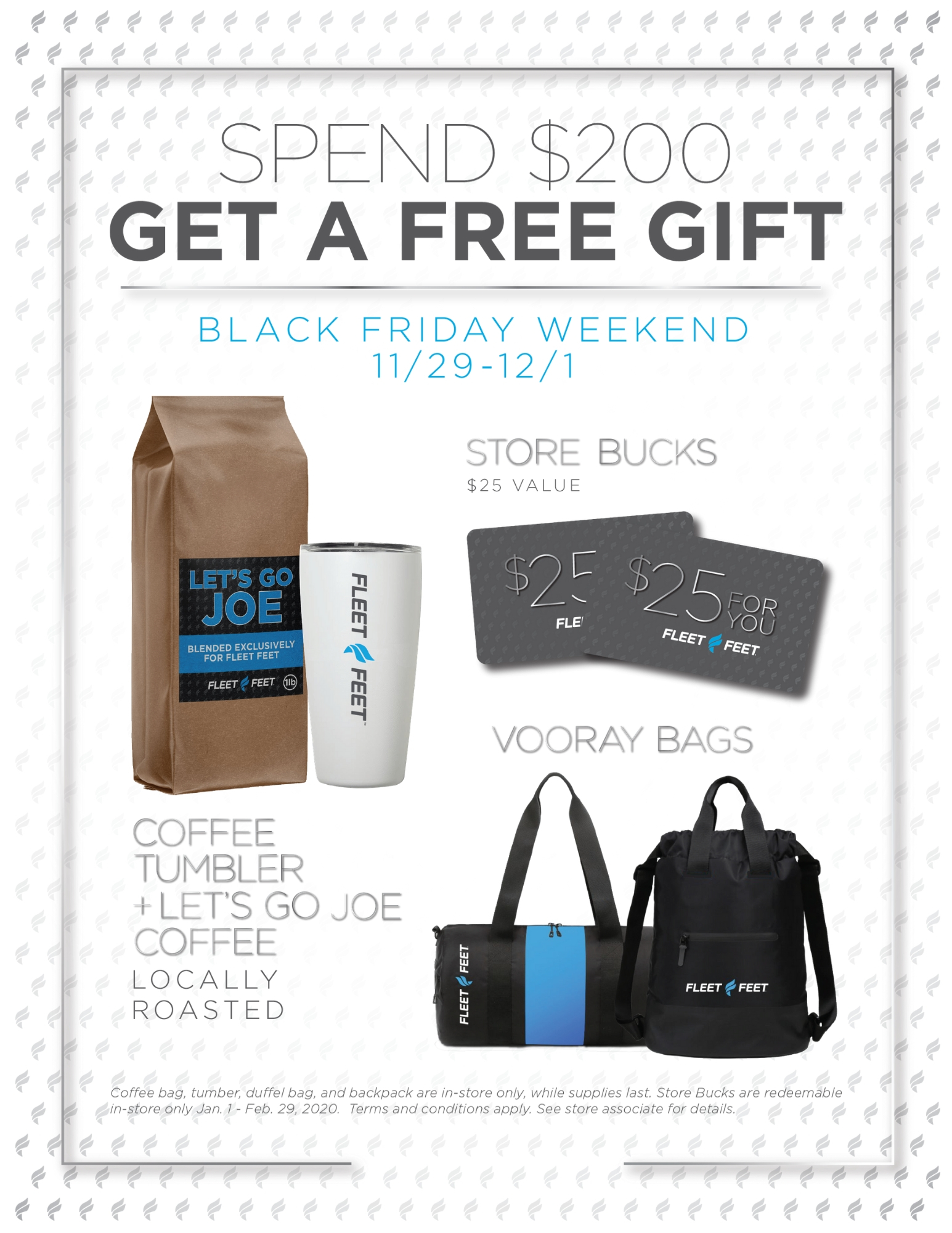 Gift with purchase of $200 or more