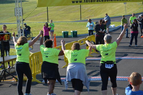 finishing the Run for the Deaf in 2015