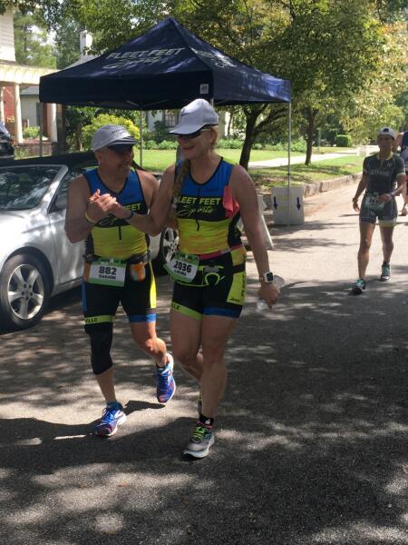 Shahin and Laura running