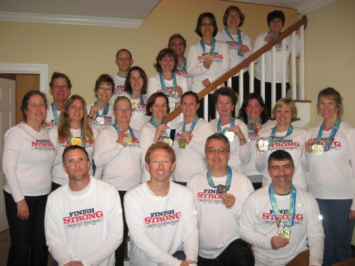 training group after the Myrtle Beach Marathon