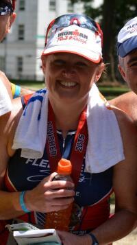 Debbie after Raleigh 70.3