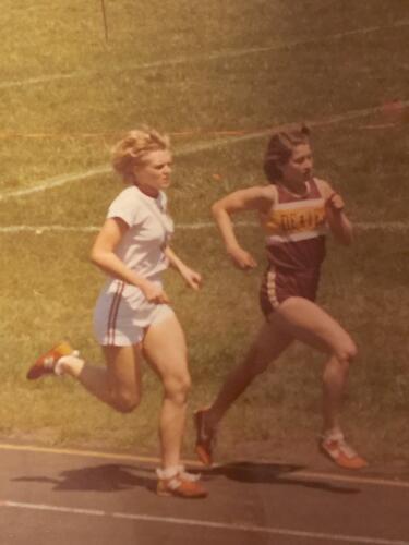 Debbie at a track meet