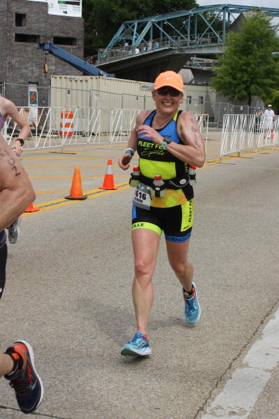 Debbie at Ironman Chattanooga 70.3