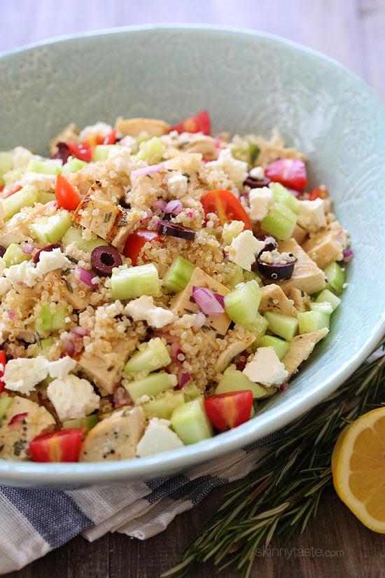 Grilled Mediterranean Chicken and Quinoa Salad