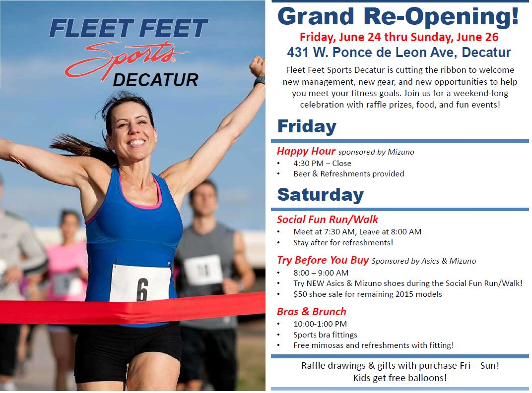 Fleet Feet Decatur Grand Re-Opening - You're invited!