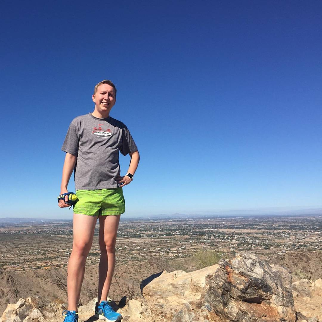 Tim on a mountain