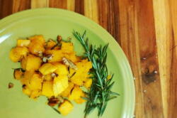 Squash with Maple Pecan Rosemary sauce