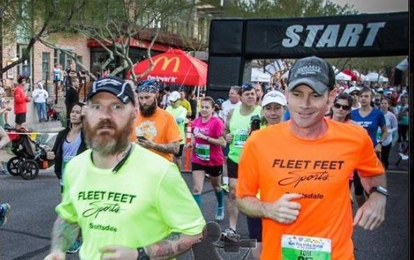 Runner making face at camera