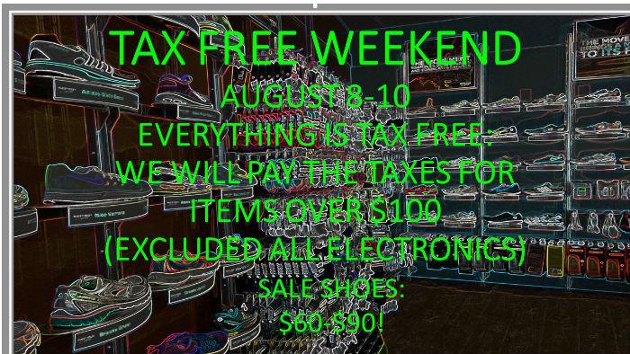 Tax Free Sale